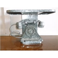 Galvanized Tin Phone Shelf