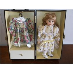 "Lasting Impressions Doll Porcelain Doll new in Case 12"" tall"