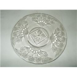 Floral & Berry Pattern (6) Dessert Plate pressed glass