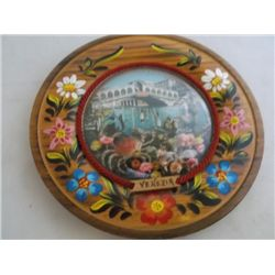 Venezia Venice souvenir wall plaque wood with Venezia Venice souvenir wall plaque wood with center b