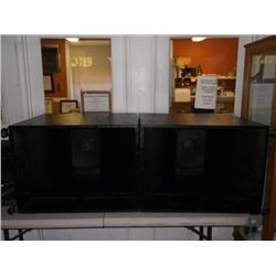 BFI Systems Bullfrog Speakers Professional DJ Equipment 2-Large BFI Speakers approx. 32  x 26  x 22