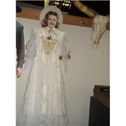 wedding dress in a signed ernest & Julio Gallo box