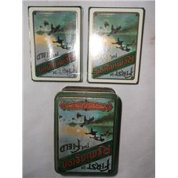 Remington Tin w/2 Decksplaying cards