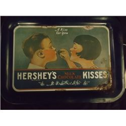 "Hershey""s Tin Tray Hershey's Kisses Milk Chocolates Tray 17 1/2 x 13"" approx size"