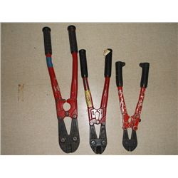 3 sets of bolt cutters