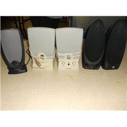 2 1/2 sets of pc speakers