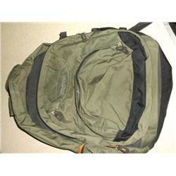 Green back pack