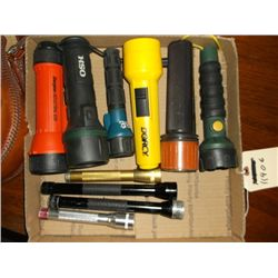 10 Misc. Flashlights Box of 19 misc. flashlights