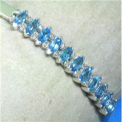 14K TOPAZ AND DIAMOND BANGLE