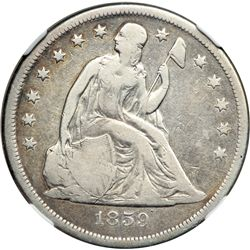 1859-O Liberty Seated $1 NGC VF20