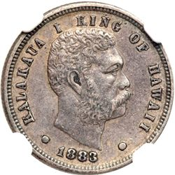 1883 Hawaiian Ten Cents NGC AU50