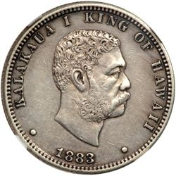 1883 Hawaiian 25C NGC AU50