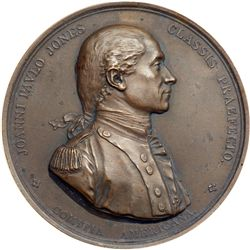 1779-Dated (after 1880) John Paul Jones Comitia Americana Medal. Bronze. Julian NA-1. Mint State 63.