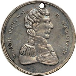 1836 William Henry Harrison Campaign Medal. German Silver. 30mm