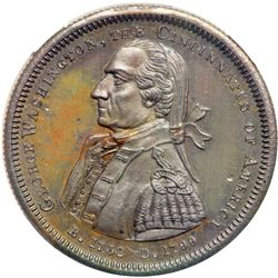 (1861) Cincinnatus of America Medal. Baker-287. NGC MS-63 Brown.. NGC MS63