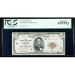 1929, $5 Federal Reserve Bank Note. PCGS Choice New 63PPQ