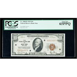 1929, $10 Federal Reserve Bank Note. PCGS Gem New 65PPQ