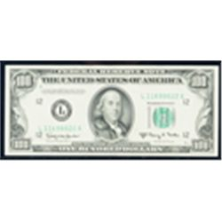 1950-E, $100 Federal Reserve Note. PCGS Extremely Fine 45PPQ