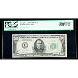 1934, $500 DGS Federal Reserve Note. PCGS Choice About New 58PPQ