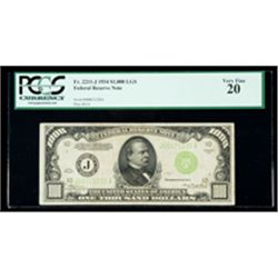 1934, $1000 LGS Federal Reserve Note. PCGS Very Fine 20