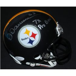 "Dermontti Dawson Signed Steelers Mini-Helmet: Inscribed ""7x Pro Bowl"" (JSA COA)"