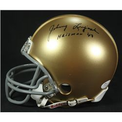 "Johnny Lujack Signed Notre Dame Mini-Helmet: Inscribed ""Heisman '47"" (JSA COA)"