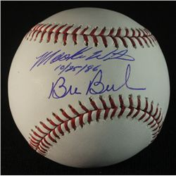 "Mookie Wilson & Bill Buckner Signed OML Baseball: Inscribed ""10/25/86"" (JSA COA)"