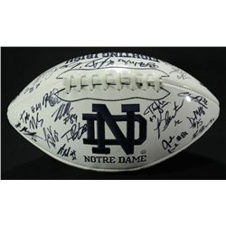2010-11 Notre Dame Team Logo Football Signed by (47) With Crist, Motta (PA LOA)