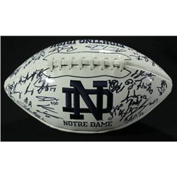 2010-11 Notre Dame Team Logo Football Signed by (53) With Crist, Motta (PA LOA)