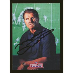 Mike Ditka Signed Bears Football Card (JSA)