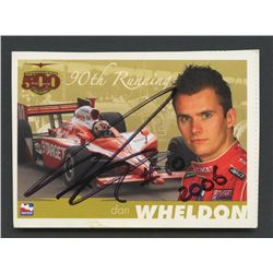 Dan Wheldon Signed Indy Racing Card (JSA COA)