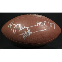 "Bruce Matthews Signed Football: Inscribed ""HOF 07"" (JSA COA)"
