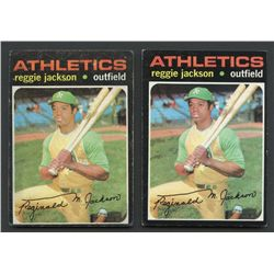 Lot of (2) 1971 Topps #20 Reggie Jackson
