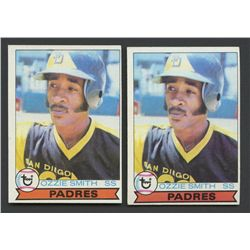 Lot of (2) 1979 Topps #116 Ozzie Smith RC