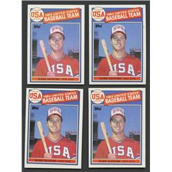 Lot of (4) 1985 Topps #401 Mark McGwire OLY RC