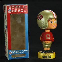 1970's San Francisco 49ers Vintage Bobblehead Nodder with Original Box