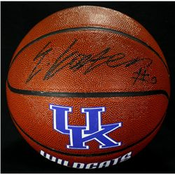 Enes Kanter Signed Kentucky Logo Basketball (GA COA)