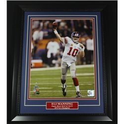 Eli Manning Giants Super Bowl 16x20 Custom Framed Display