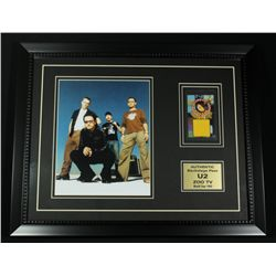 U2 16x20 Custom Framed Photo Display With 1992 Backstage Pass (SOP LOA)