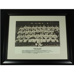 1938 Yankees World Champion 16x20 Custom Framed Display With Joe DiMaggio, Lou Gehrig