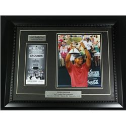 Tiger Woods 16x20 Custom Framed Display With 2007 FedEx Cup Ticket