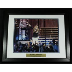 Miley Cyrus 16x20 Custom Framed Display