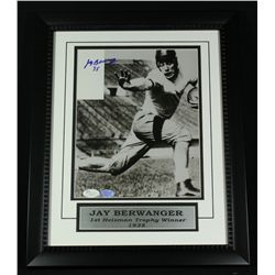 Jay Berwanger Signed Chicago 13x16 Custom Framed Piece (JSA COA)