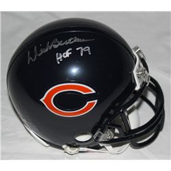 "Dick Butkus Signed Bears Mini-Helmet: Inscribed ""HOF 79"" (GA COA)"