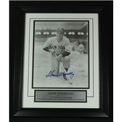 Gene Woodling Signed Yankees 13x16 Custom Framed Piece (SOP COA)