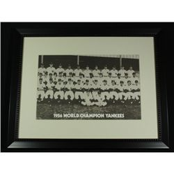 1956 World Champion Yankees 20x16 Custom Framed Display