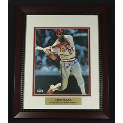 Jack Clark Signed Cardinals 13x16 Custom Framed Piece (SOP COA)