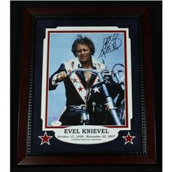 Evel Knievel Signed 13x16 Custom Framed Display (JSA COA)