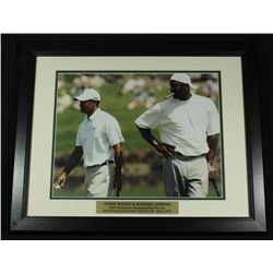 Michael Jordan & Tiger Woods 16x20 Custom Framed Display