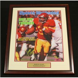 "Marcus Allen Signed USC 22x26 Custom Framed Piece: Inscribed ""Heisman 81"" (SOP COA)"
